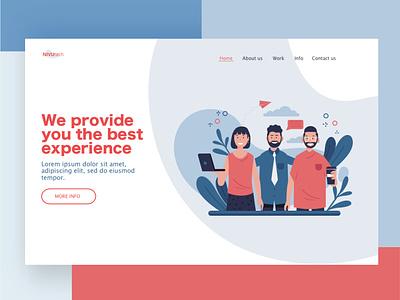 Landing page ux creative business illustration simple tech web page landing page web design web branding