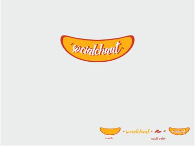 Socialchaat social media media conversation communication interesting chat chaat social funny branding creative design illustration logo business