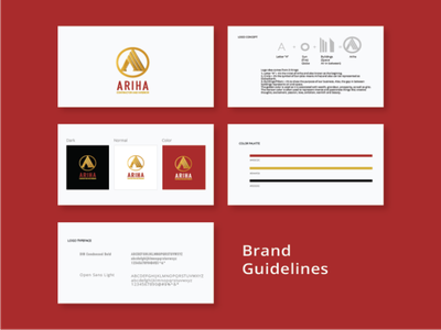 Brand Guidelines mehroon golden colour contrast graphic design icon typography logo creative business branding