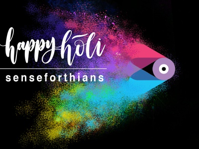 Happy  Holi Senseforthians logo play logo occasion whatsapp social media post ai artificial intelligence happy holidays design graphic design creative