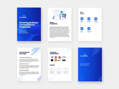 AI Brochure Design pages graphics blue catalogue brochure illustration logo graphic design branding design creative business
