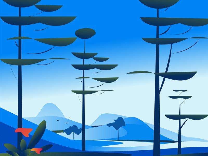 Nature landscape vectors nature illustration
