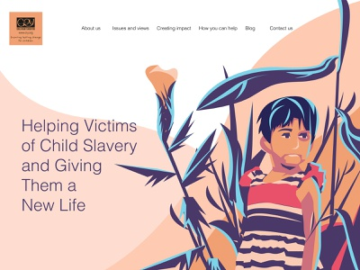 """""""cry"""" web redesign childrens cryorg illustration landing page"""