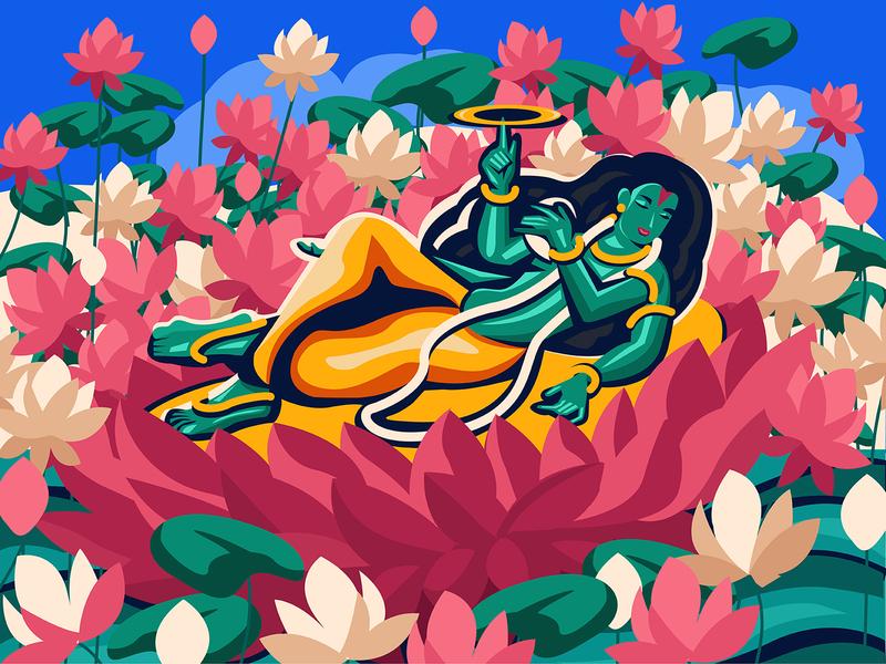 Maha Vishnu illustration