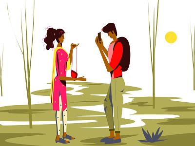 Girl friend illustration