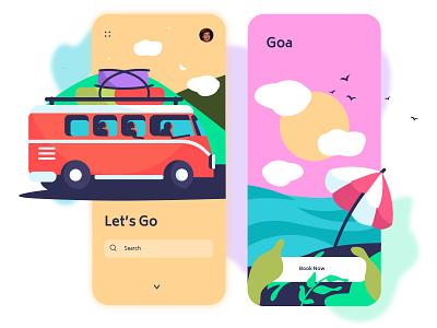 Travel app travel agency ui illustration travel travel app design