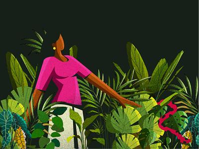 Village Woman woman village kerala indian vector illustration