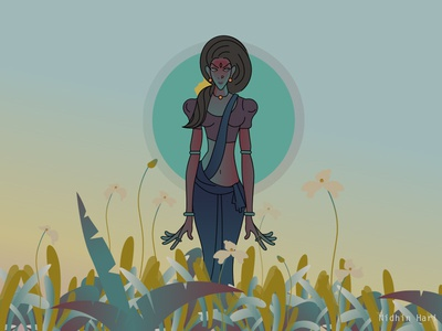 The guardian of flowers😘.. #Illustration