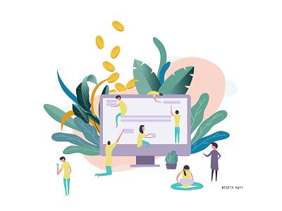 Illustration satisfaction customer vector illustration