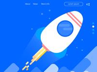 Rocket Launcher landing page proto