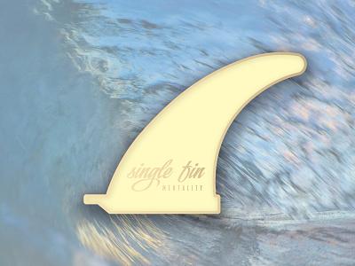 Single Fin Mentality v.2 north shore enamel pin pin sun hawaii surf fin single fin