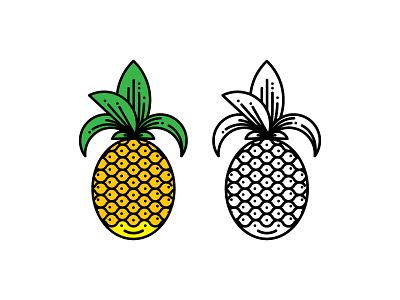 Kooky Pineapple Pin  symbol icon pin pineapple