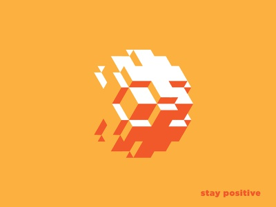 Stay Positive icon symbol plus positive stay positive