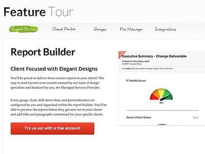 Feature tour tour marketing site