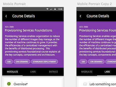 LMS Course Details mobile material lms