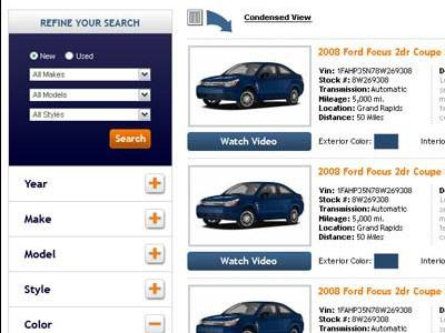 Auto Shopping Expanded list