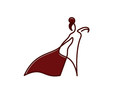 tango monoline logo illustration woman girl line ff
