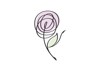 ballet flower vector girl line logo illustration design minimal woman ff monoline flower ballet ballerina
