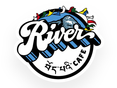 River Cafe - Momo Mountain Design illustration brand food tibetan tibet