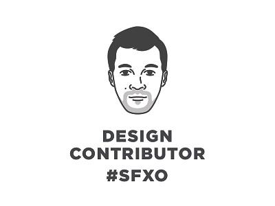 SFXO Design Contributor - Devon portrait head san francisco bandw sanfrancisco illo