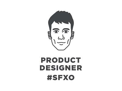 SFXO Product Designer - Taylor portrait head san francisco illo sanfrancisco bandw