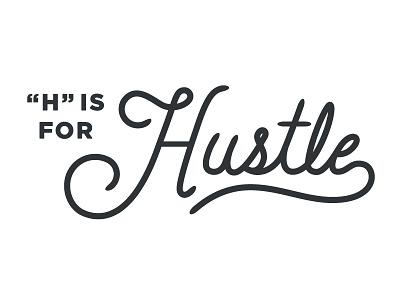 """H"" is for hustle script hand lettering letter typography sfxo vector"