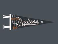 Makers Script Pennant