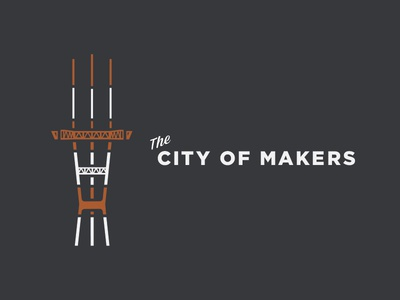 Sutro Tower the city city makers san francisco sf illustration sutro tower