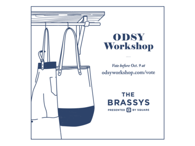 Vote Odsy Workshop for a Brassy! - Blue Version workshop square cloth apron leather