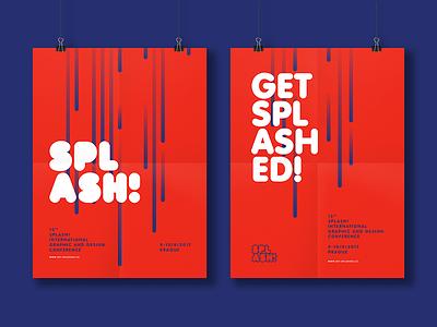 Splash - unused concept part 1 fresh poster red concept branding splash