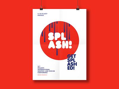 Splash - unused concept part 2 splash red fresh poster concept branding