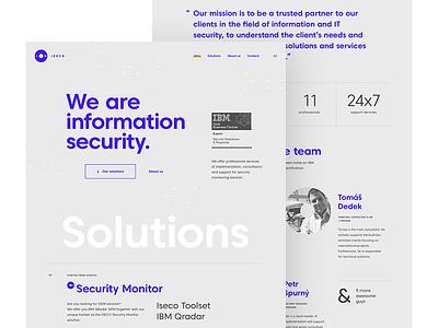 ISECO - microsite data qradar watson ibm security information onepage microsite product digital typography iseco