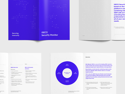 ISECO Brochure blue data qradar watson ibm security information product brochure print typography iseco