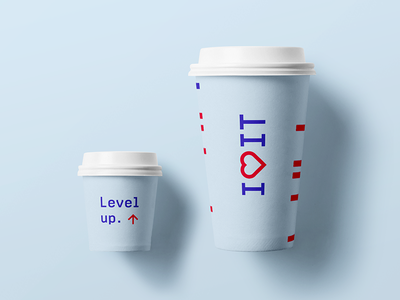 Capacita  - Paper cups i love it level up grid paper cup capacita brand identity