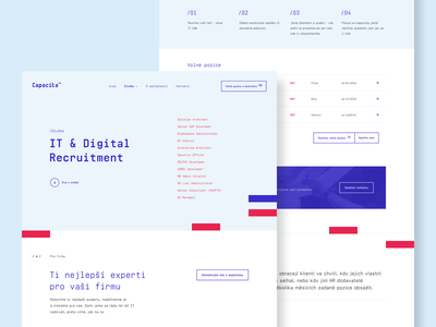 Capacita - Product page blue red typography web ui product page grid design capacita website