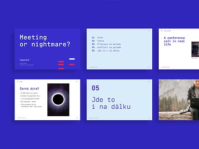 Capacita - presentation template brand identity slides level up capacita blue powerpoint template design presentation