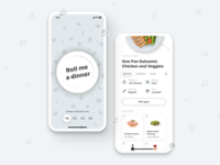 DinnerRoller - An idea cooked for you - Main screens