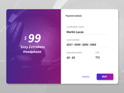DailyUI 002 - Credit Card Checkout purple daily ui daily credit card checkout ui dailyui