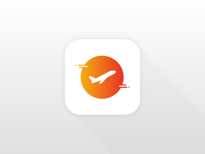 DailyUI 005 - App Icon orange yellow daily ui travel ios icon app ui daily dailyui