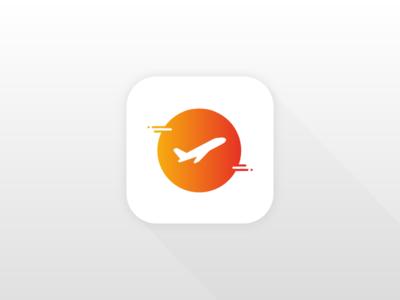 DailyUI 005 - App Icon orange yellow daily ui travel ios icon app ui daily dailyui