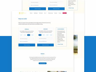 Les Donate Page nonprofit price ux ui foundation donating donate site web interface visual design