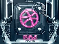 Dribbble Triple Invite