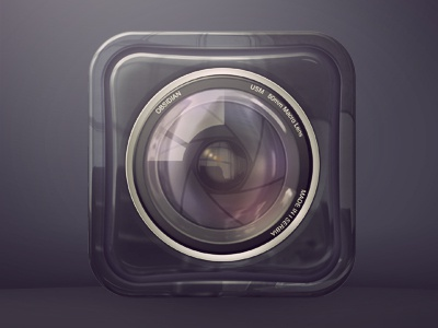 Lens Icon lens camera icons ios realistic glossy reflections