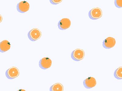 orange pattern pattern shadow slices orange