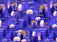 foggy li'l village pattern