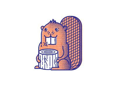 It's Tooth Time - V beaver dentistry teeth animals illustration
