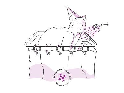 Pint Sized Bathing Routine christmas holidays elf illustration