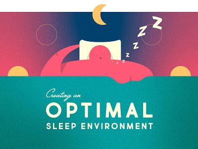 Optimal Sleeper dreaming character sleep vector illustration