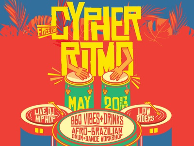 Cypher Ritmo cypher ritmo drumming drums brazillian illustration