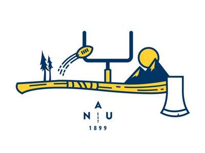 Northern Arizona University axe football northern arizona nau logo illustration